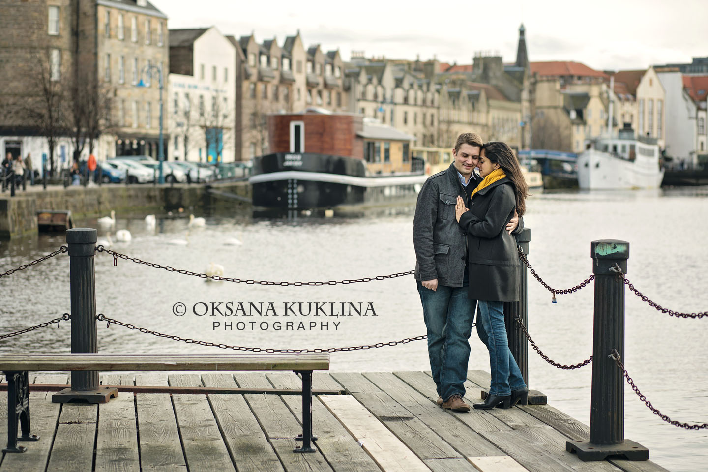 Engagement shoot around Leith by  © Oksana Kuklina Photography