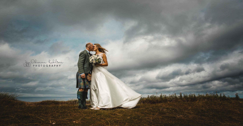 Luxury Scotland Wedding Photographer © Oksana Kuklina Photography - Alternative Edinburgh Wedding - Wedding at Broxmouth Park in Dunbar